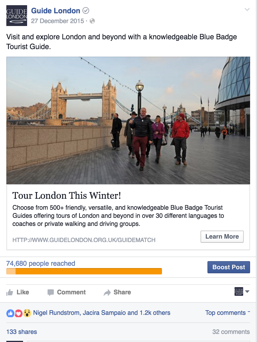 Guide London - Guide Match
