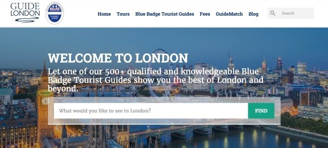 Guide London: New Website, May2016.